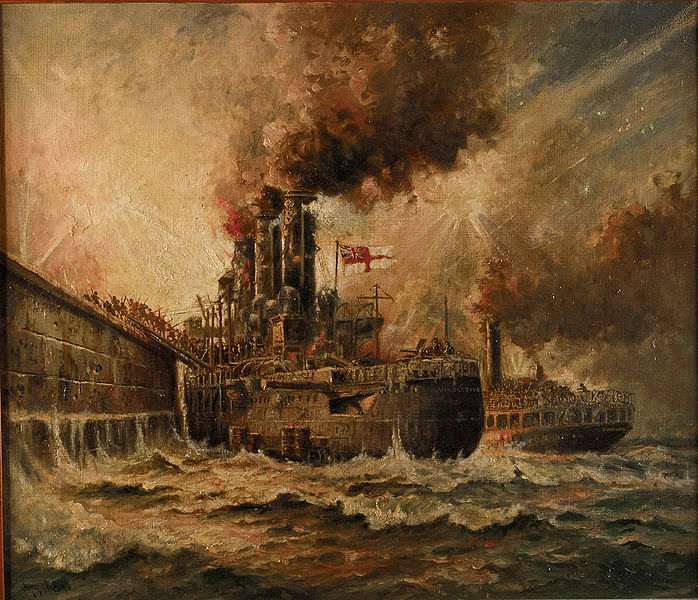 Charles John De Lacy HMS Vindictive at Zeebrugge 23 April 1918